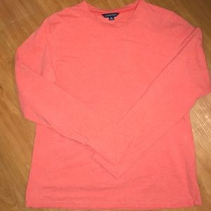 Land's End coral long sleeve top. Size M